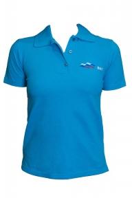 ВФП футболка поло с символикой ВФП голубая