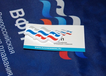 Значок PVC для кроксов ВОЛНА логотип ВФП