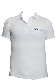 ВФП футболка поло с символикой ВФП белая